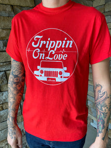 """Trippin On Love"" T-Shirt Red"