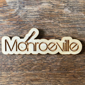 Monroeville Wooden Magnet Cutout 4in