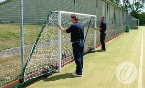 Football Goals - 3G Aluminium Fence Folding 3.7-5.2m Projection - Inside Fence