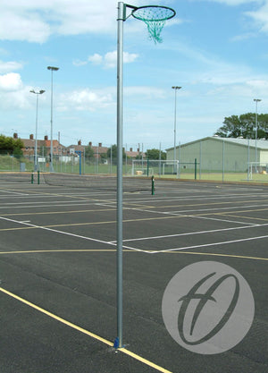 Regulation Netball Posts with Locking Sockets