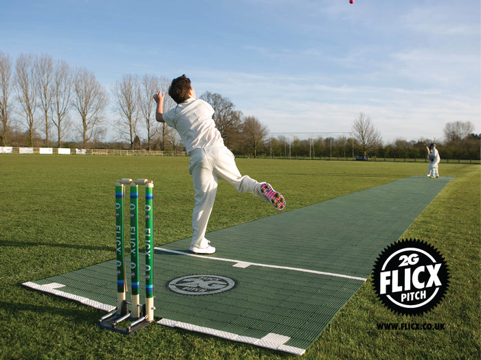 Cricket Pitch Flicx Match - Green