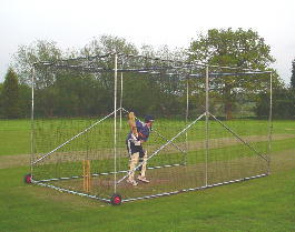Freestanding Cricket Practice Bay