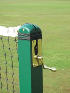"Tennis Posts 76mm (3"") Square Aluminium"