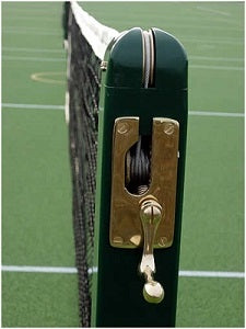 Mini Tennis Posts - Socketed Green