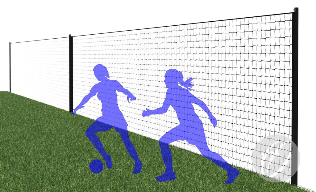 Court & Pitch Divider System With Net 2m high