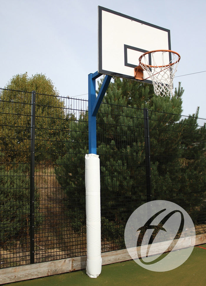 Basketball Post Protectors - White