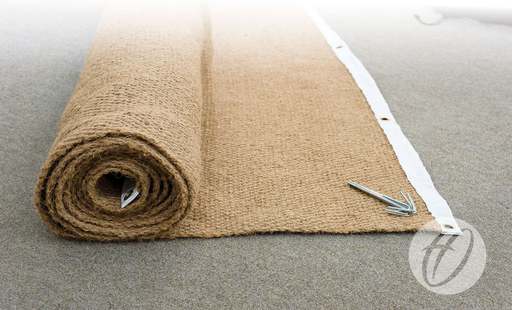 Cricket wicket protection coconut matting
