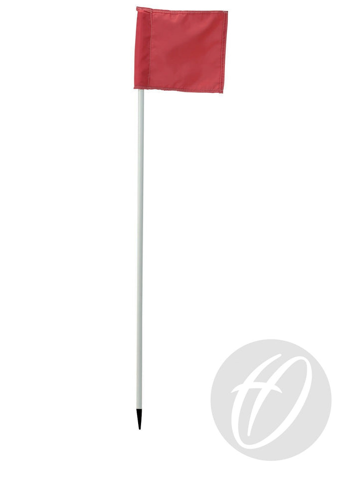 Flag Pole with Spike x4 - White 22mm Flexible PVC