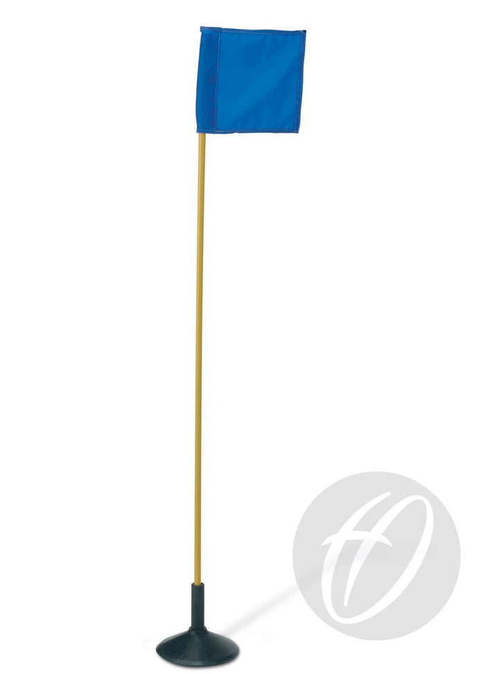 Flag Pole with Spike x4 - Yellow Flexible PVC 22mm