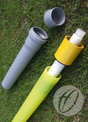Flag Pole with Flag, Socket & Lid