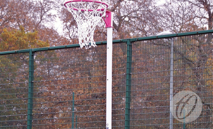 Netball Posts - 10mm Pink Ring - Socketed