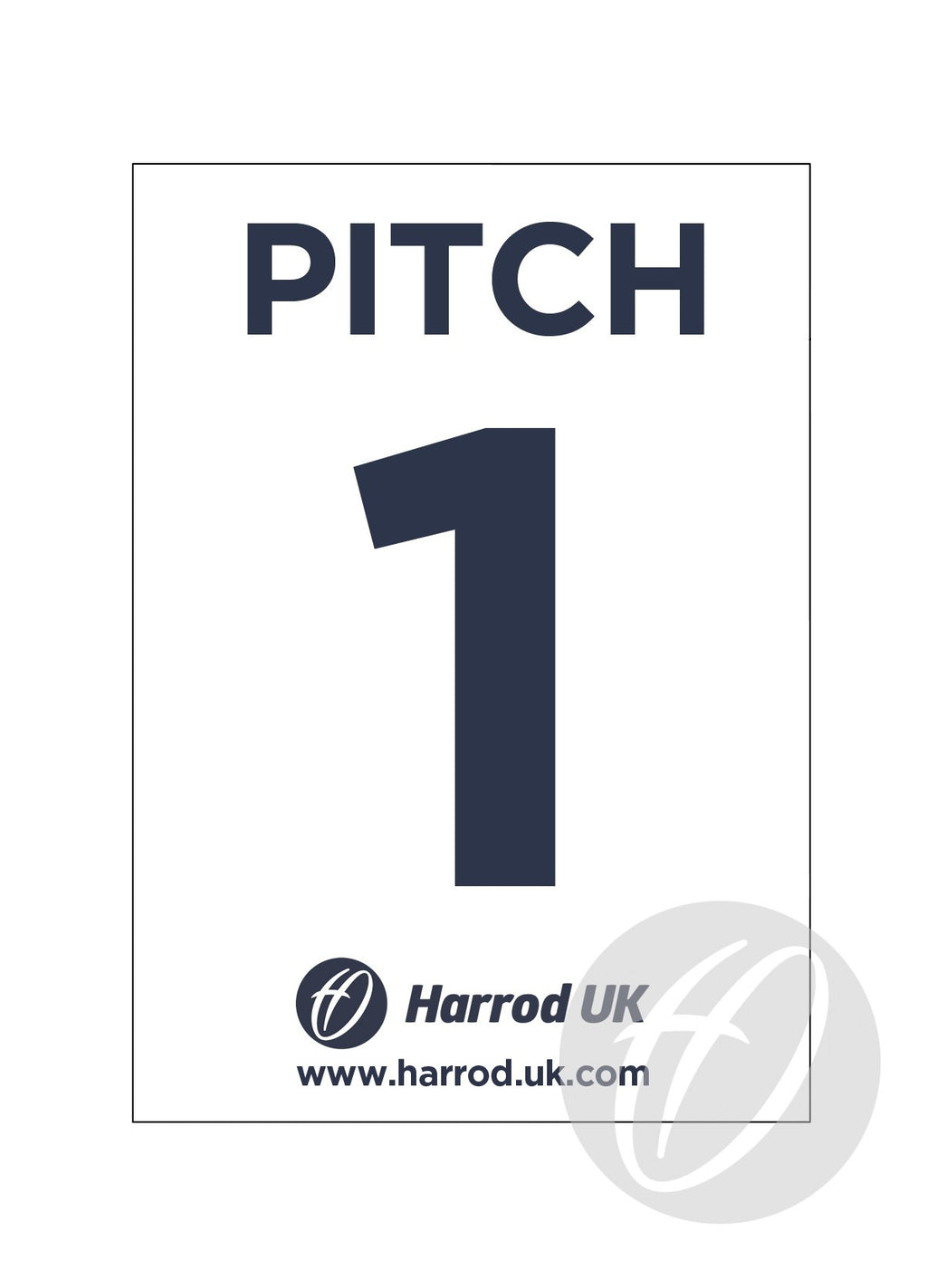 Pitch Number Signs