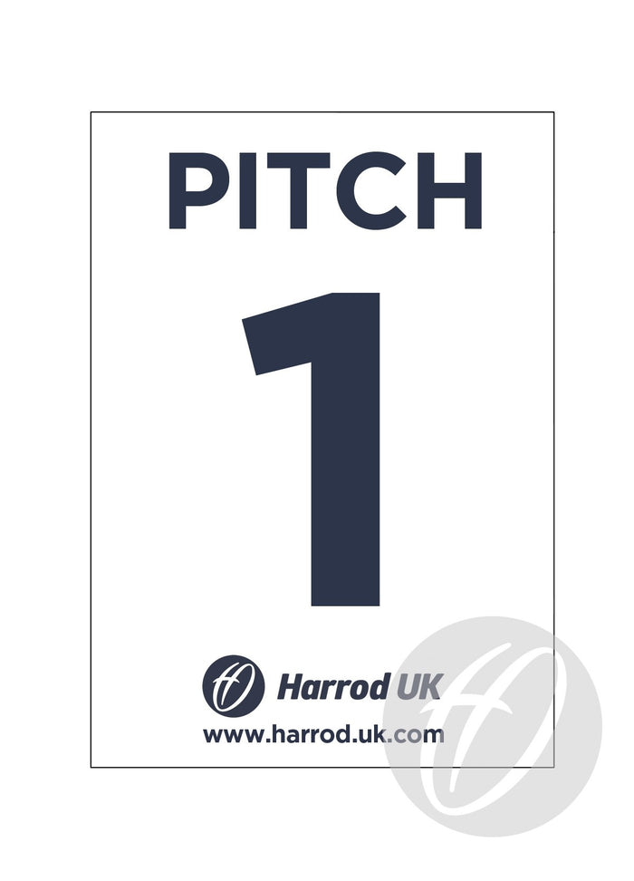 Court & Pitch Number Signs