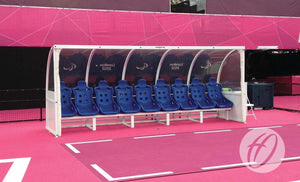 Curved Team Shelter with Superior Seats