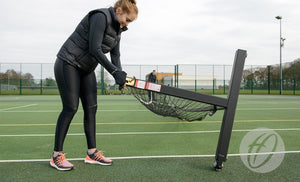 Tennis Posts Wheelaway Freestanding