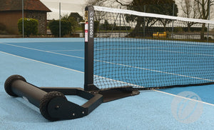 Tennis Posts Integral Weighted Wheelaway Aluminium