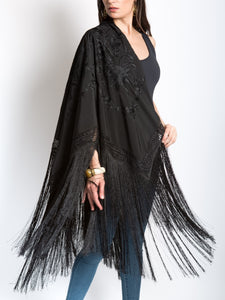 Madrid Fringe Piano Shawl