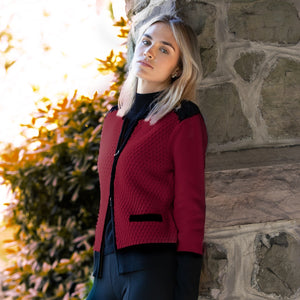 Merino Color Block Cardigan