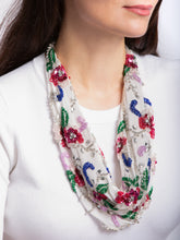 Load image into Gallery viewer, Spring Bouquet Scarf Necklace