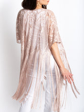 Load image into Gallery viewer, Fringed Boudoir Coverup