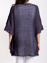 Load image into Gallery viewer, Crinkled Linen Batwing Tunic