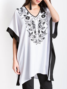 Paisley Embroidered Tunic