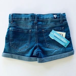 denim shorts  |  cuffed