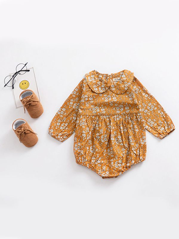 bubble romper  |  mustard