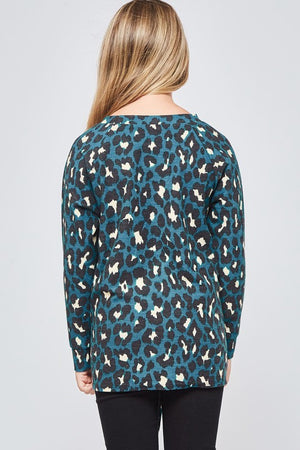 knotted sweater  |  leopard