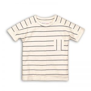 short sleeve tee  | navy stripe