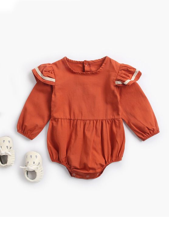 bubble romper  |  rust