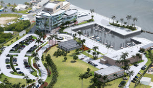 3D Rendering Map or Marina and Campus