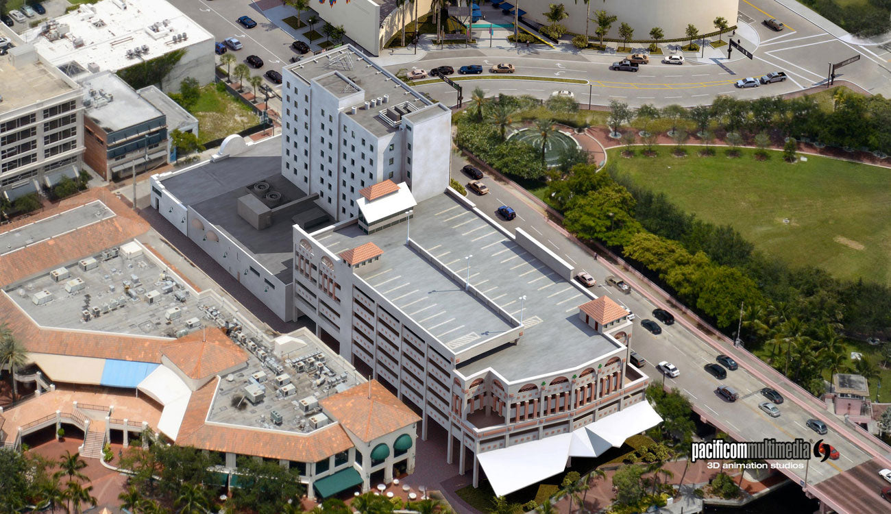 Commercial Building 3D Aerial Renderings by Pacificom
