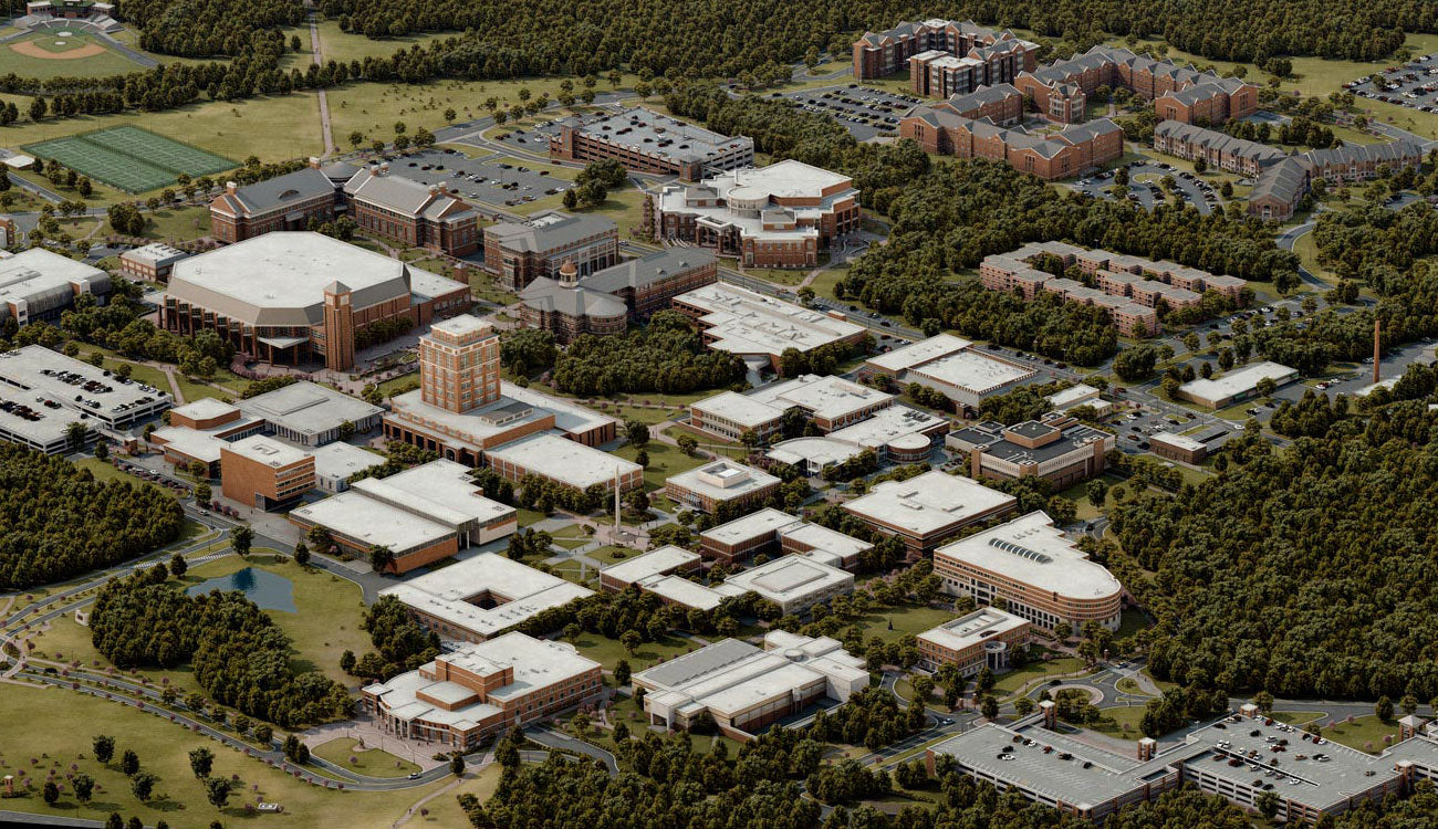 UNCC Map in 3D Campus Tour by Pacificom