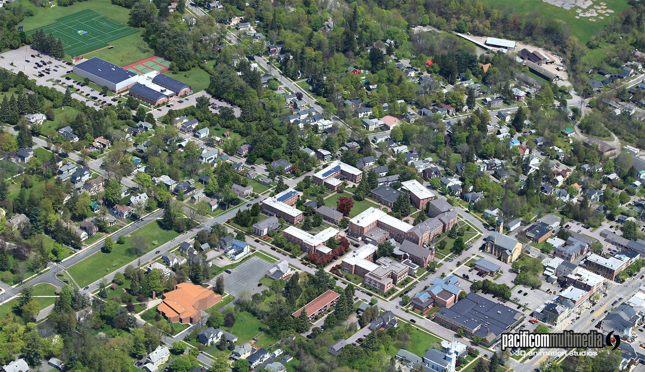 Campus Tours 3D Maps designed by Pacificom Multimedia