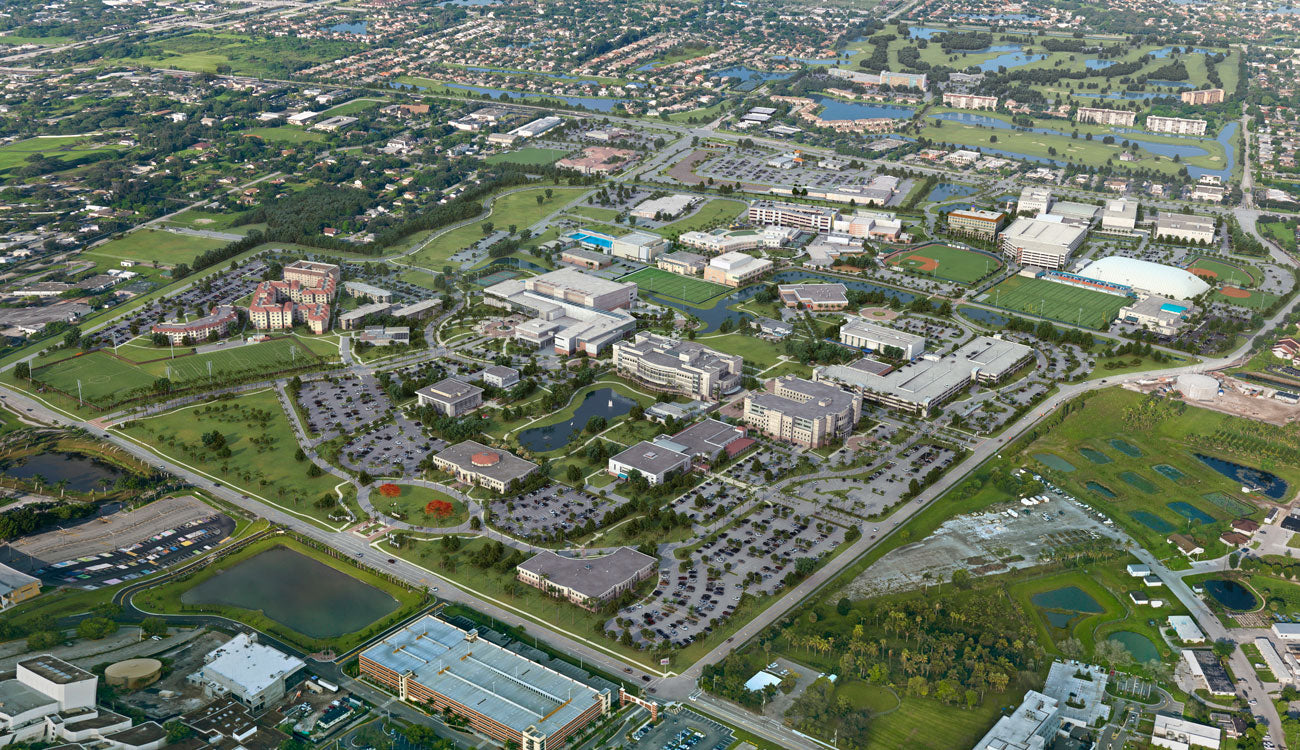 Nova Southeastern University 3D Aerial College Map by Pacificom Multimedia