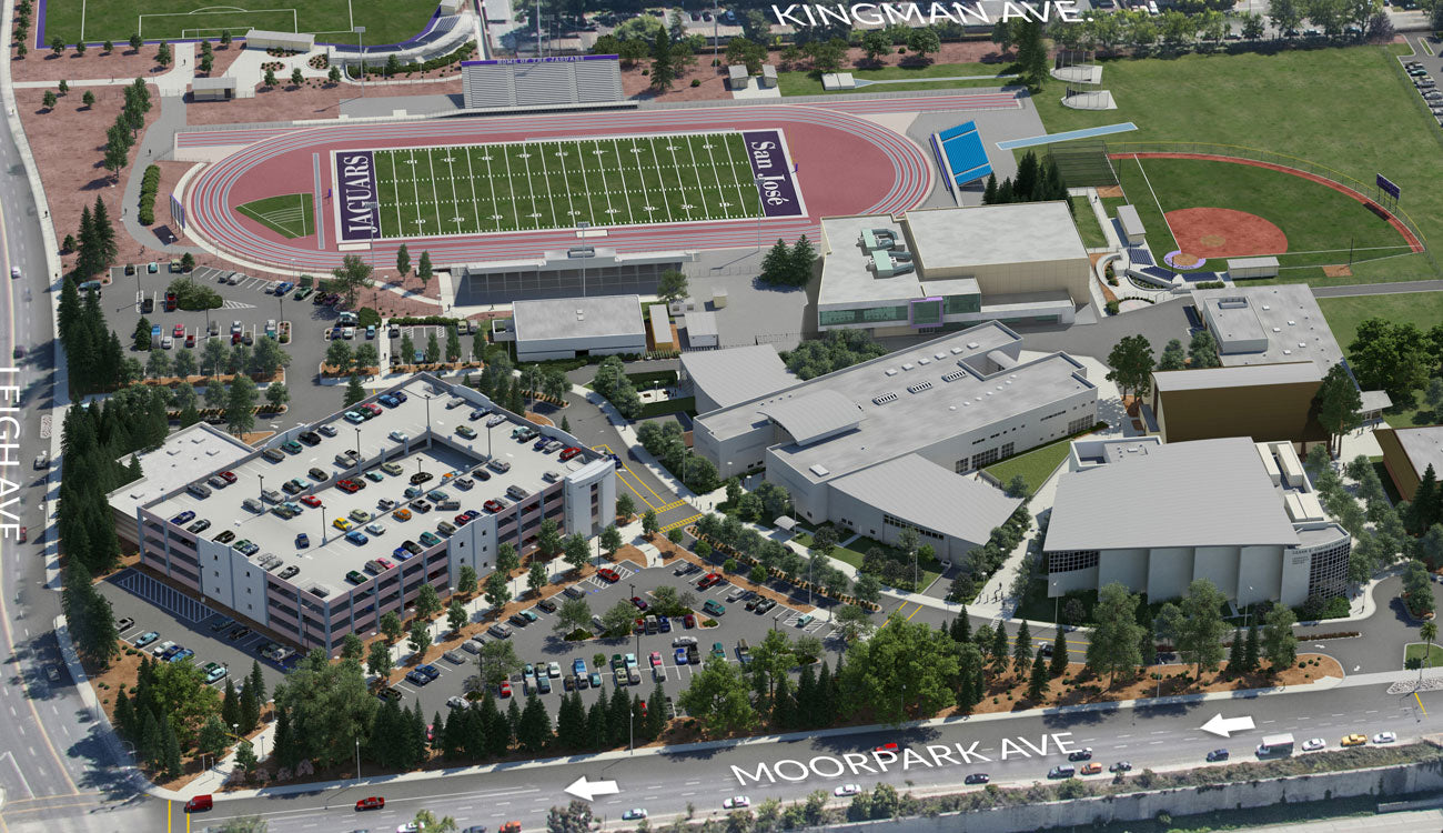 San Jose City College Aerial Rendering Map