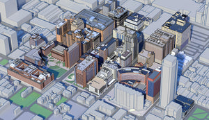 Vector Style 3D Map of City View by Pacificom 3D Animation Studios