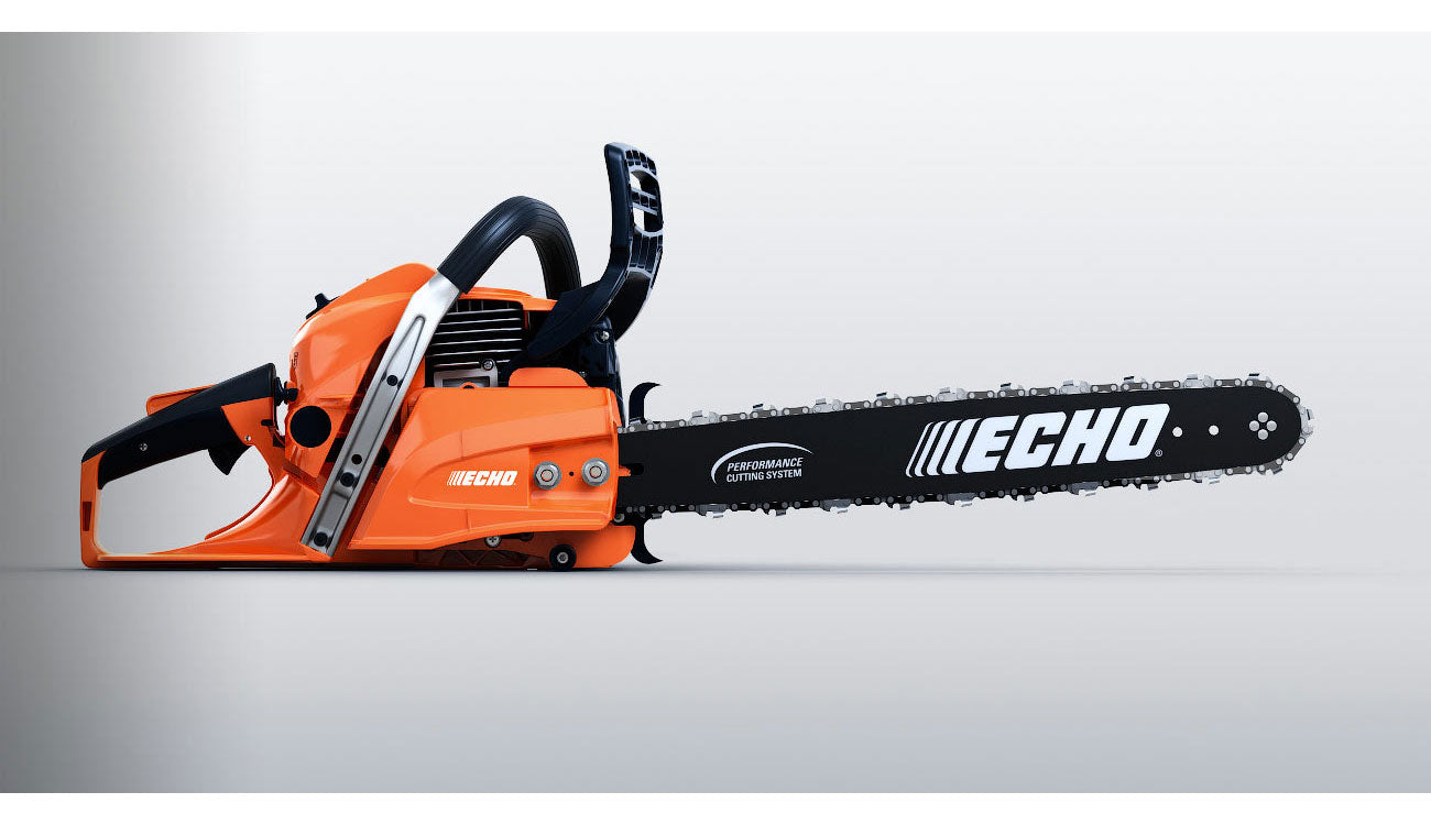 Animated Orange Echo Chainsaw