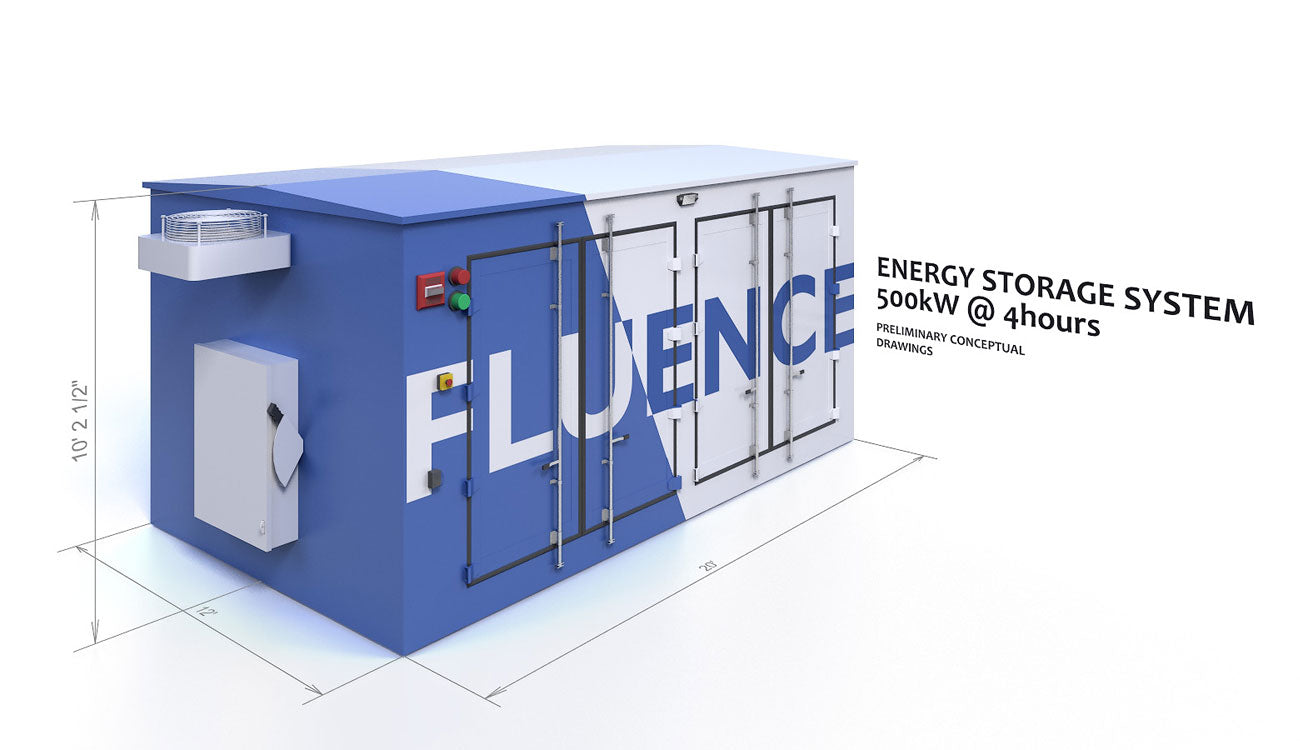 Cooled Fluence Battery Storage Container System