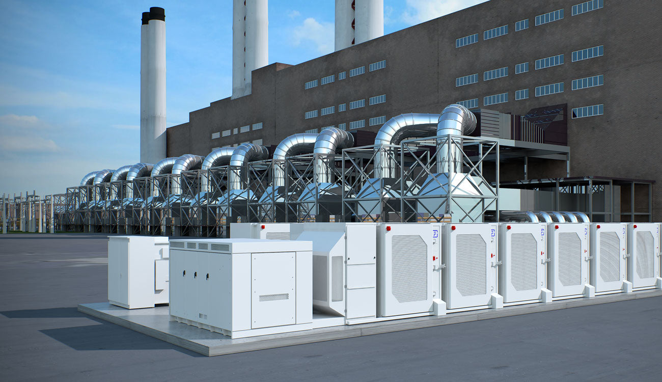 3D Animation Factory with Exterior Cooling Units