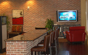 Corporate Leisure Area with Bar Top and TV