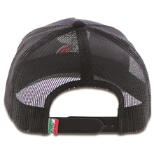 "Load image into Gallery viewer, 1909T-BK Desc: ""Boquillas"" Hooey black / black mesh 5-panel trucker with embroidered logo - OSFA"