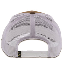 Load image into Gallery viewer, 1928T-TNWH Desc: Resistol tan / white mesh 6-panel trucker with patch - OSFA