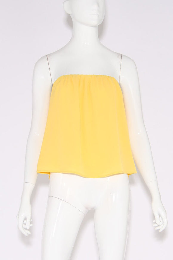 SUNNY YELLOW Strapless Top