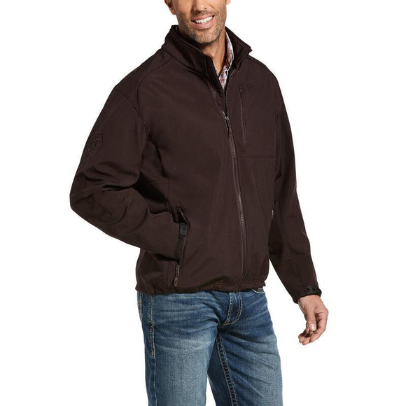 ARIAT | MEN BROWN LOGO JACKET USA FLAG