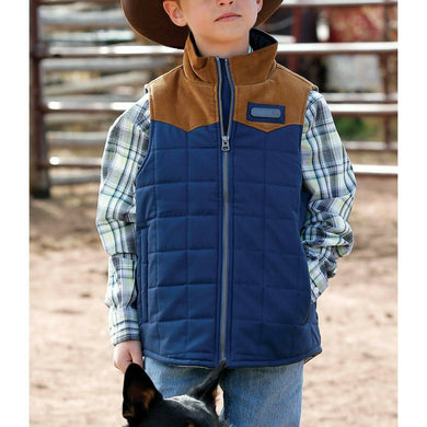 CINCH | NAVY BOYS QUILTED VEST