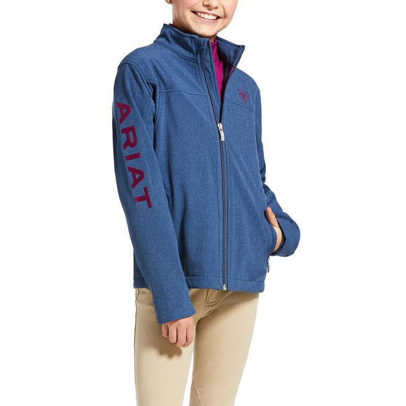 ARIAT | KIDS New Team Softshell Jacket BLUE