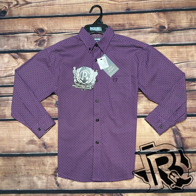 PANHANDLE KIDS SHIRT LONG SLEEVE AUBERGINE C0D4153
