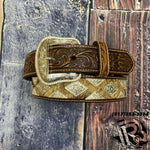NOCONA PRO SERIES MEN'S HAIR-ON HIDE CONCHO BELT N2509408